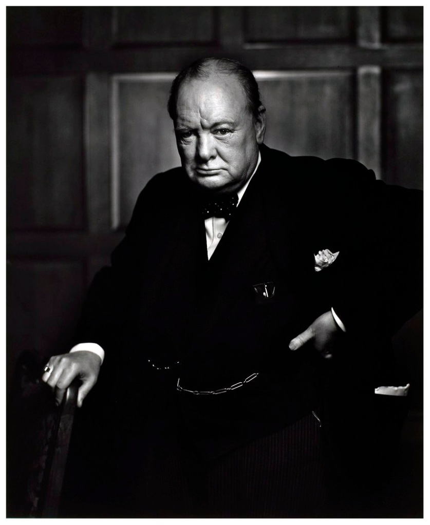 Portrait of Sir Winston Churchill by Photographer Yousuf Karsh.  http://www.karsh.org/#/the_work/portraits/winston_churchill