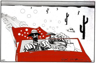 Fear and Loathing in Las Vegas, Savage Journey, as illustrated by Ralph Steadman (www.ralphsteadman.com)