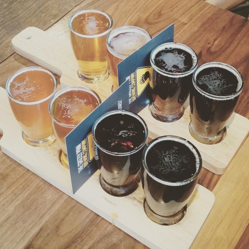 Dani Lalonde (Studio Crumbs) enjoyed craft beer at the Grizzly Paw in Canmore Alberta.